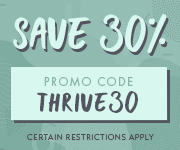 Save with promo code THRIVE30